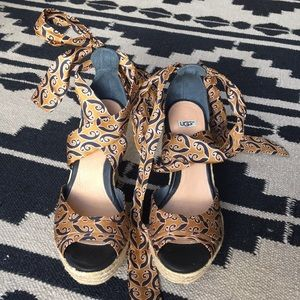 UGG Lucianna Wedge Sandals